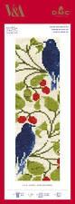 BL1171/77 - V & A C F A Voysey - Bird and Berry Cross Stitch Bookmark Kit