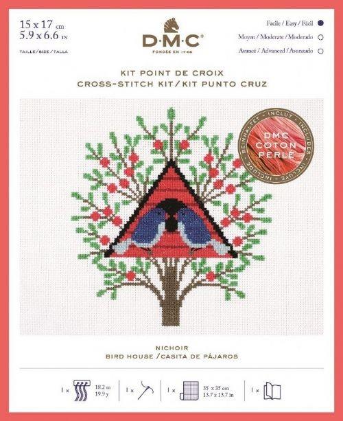 DMC Bird House Cross Stitch Kit - BK1781
