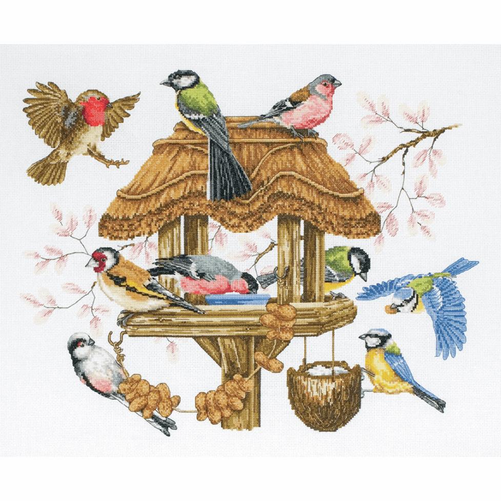 Anchor - Premier Bird Table Cross Stitch Kit