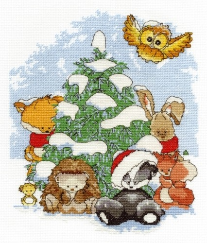 BL1031/65 - Woodland Folk - Winter Wonderland Cross Stitch Kit
