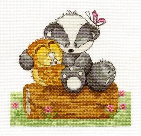 BK1033/65 - Woodland Folk - Best of Friends Cross Stitch Kit