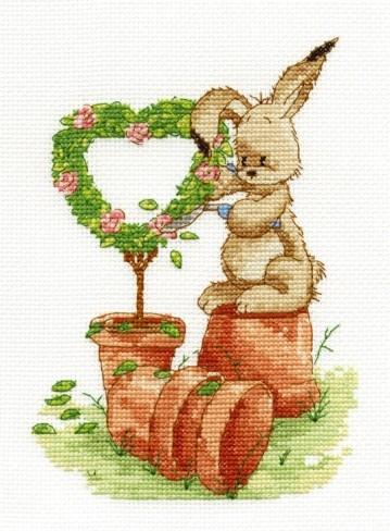 BL1034/65 - Woodland Folk - Gardening Time Cross Stitch Kit