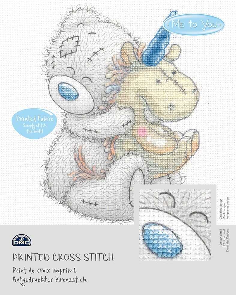 BL1138/72 - Me to You Tatty Teddy Unicorn Printed Cross Stitch Kit