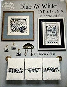 American School of Needlework - Blue and White Designs in Cross Stitch Chart Booklet