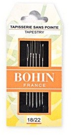 Bohin Tapestry Needles - Size 18/22 (Pack of 6)