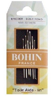 Bohin Tapestry Needles - Assort Size 22/24/26 (Pack of 6)