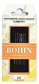 Bohin Tapestry Needles - Size 28 (Pack of 6)