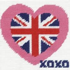 CK034 - British Heart Gobelin Printed Tapestry Starter Kit