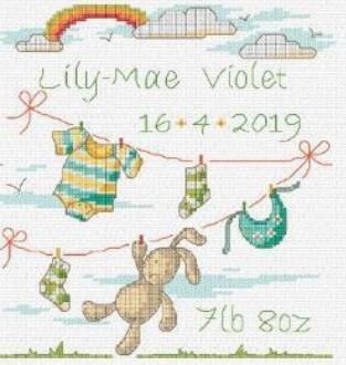 DMC Bunny baby Cross Stitch Kit BK1880