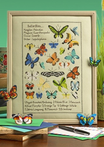 Cross Stitcher Project Pack - Butterfly Samper XST347