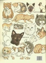 Leisure Arts Cats Cross Stitch Chart Leaflet