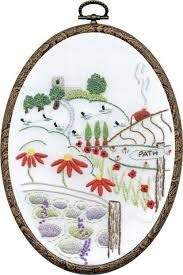 TK124 - Church View DMC Embroidery Kit