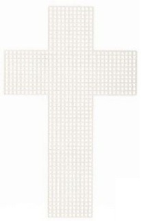 33068 - Plastic Canvas 3 in 7 Mesh Cross - 2 Pack