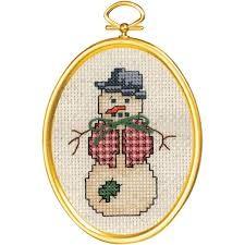 Janlynn 021-1797 -  Dapper Snowman Cross Stitch Kit
