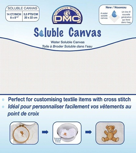 Pack of DMC Soluble Canvas - DC90
