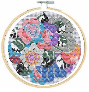 BL1196/77 - Deco Composition from Variations Cross Stitch Kit