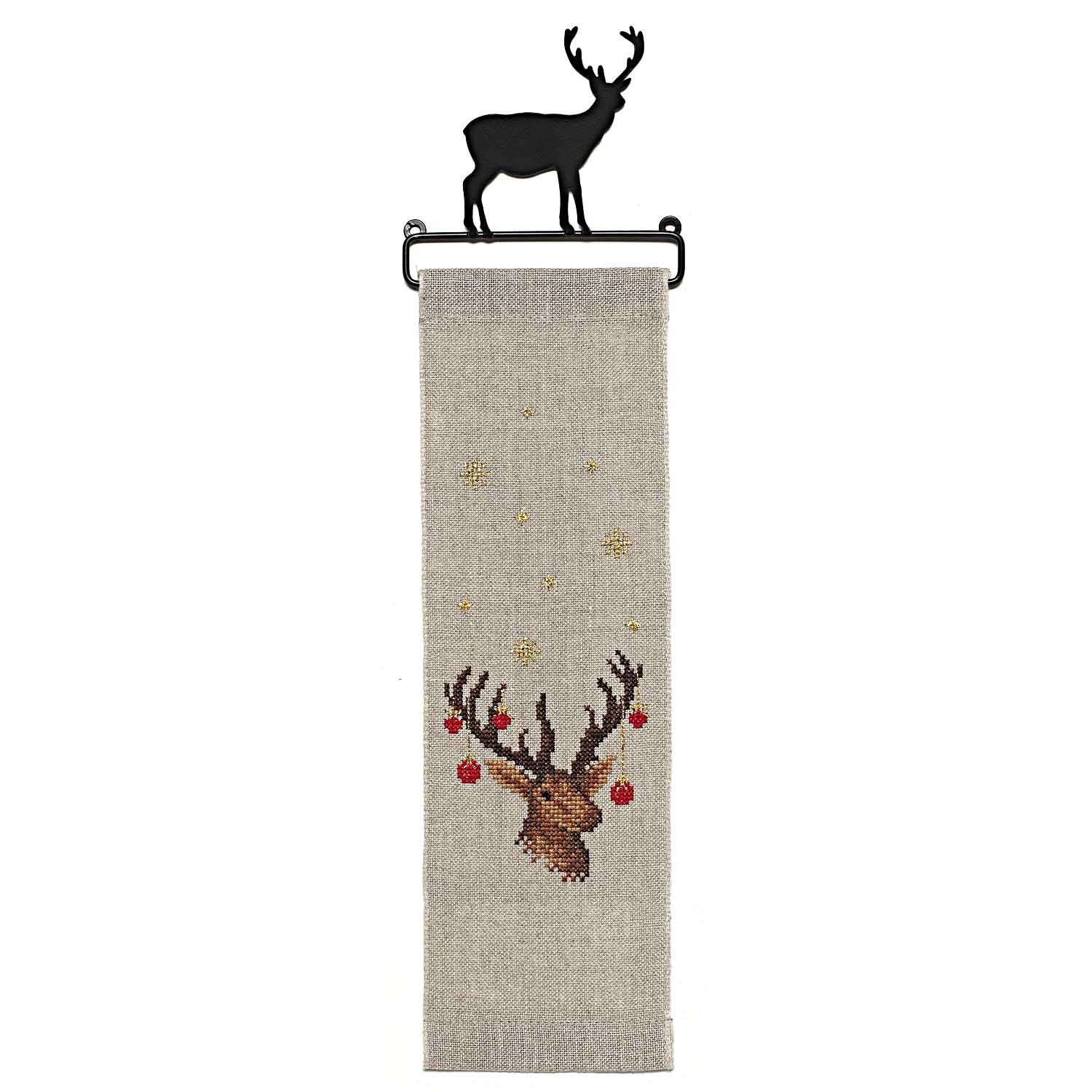 Rico Deer Hanger Cross Stitch Kit