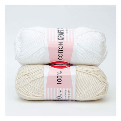 Dishcloth Cotton White 100 Grams