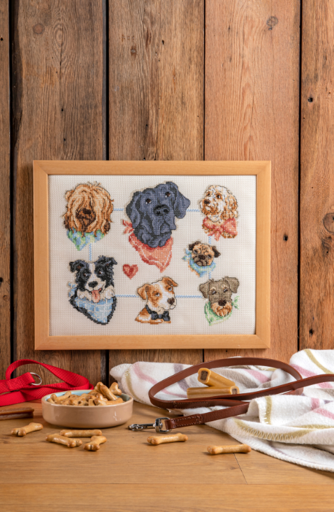 Cross Stitcher Project Pack - Pups on Parade - XST357
