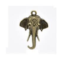 Elephant Bronze Tone Charms - 3 Pack