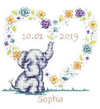 DMC Elephant baby Cross Stitch Kit BK1879