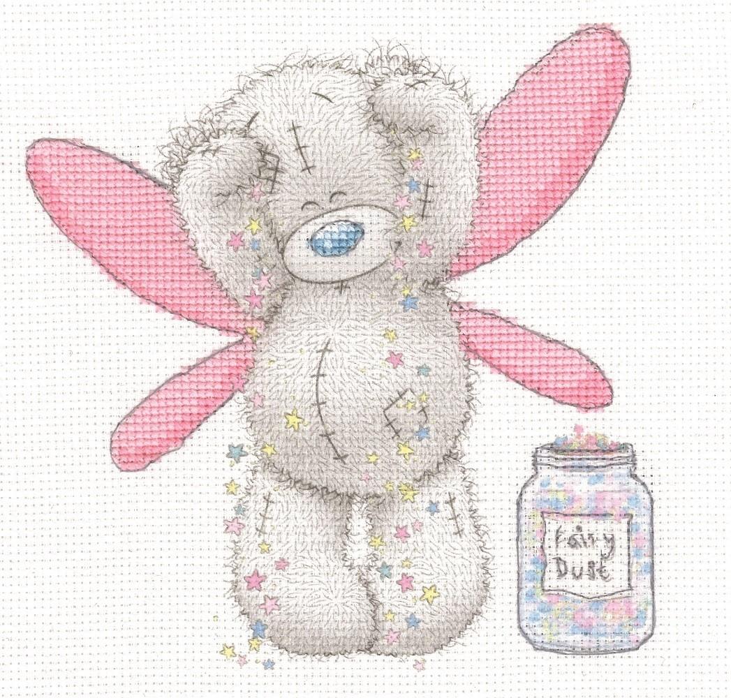 DMC BL1140/72 - Me to You Tatty Teddy Fairy Dust Printed Cross Stitch Kit