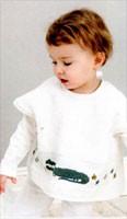 Rico Baby Armhole Feeder Bib - Ecru (40 x 49cm)