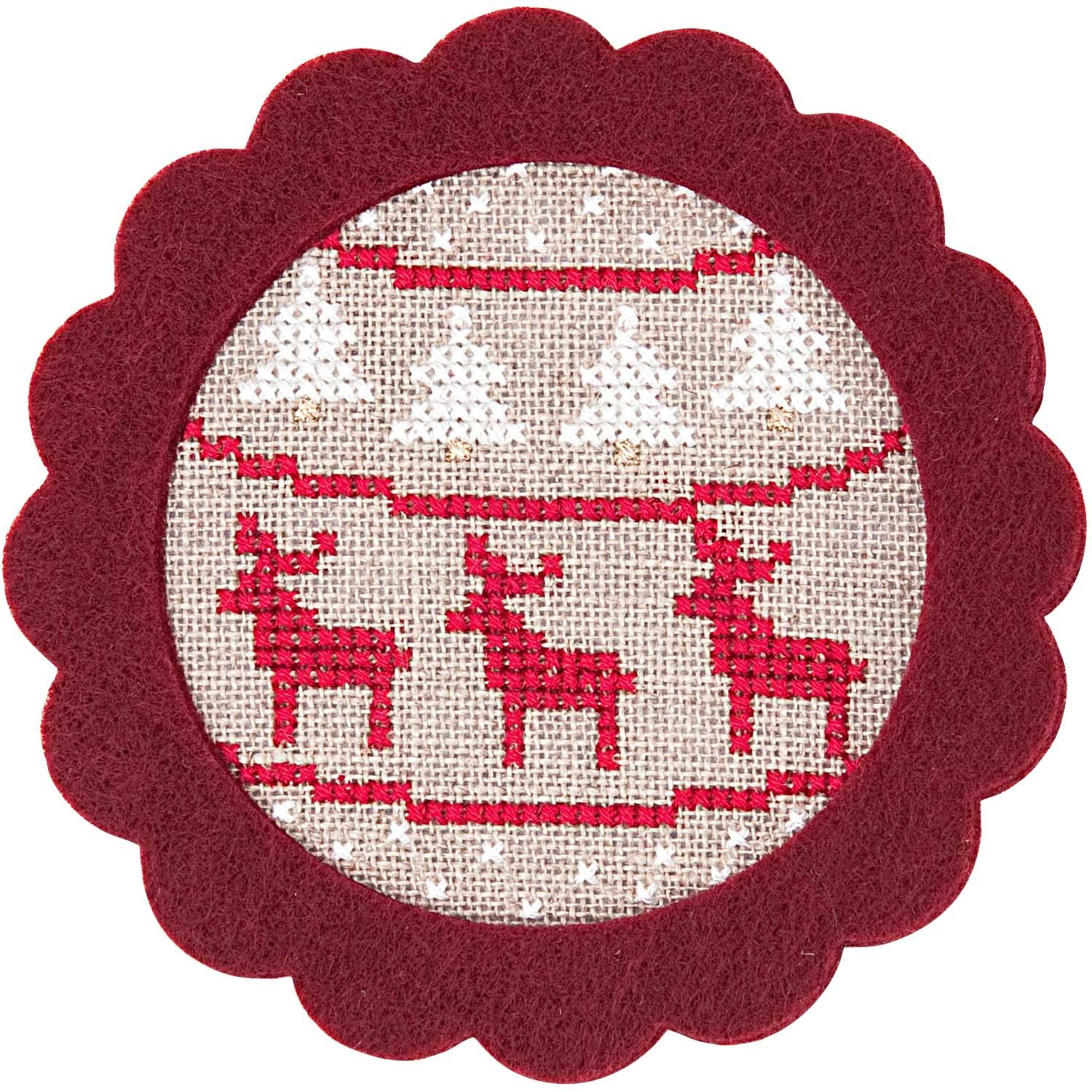 Rico Reindeer Felt Hanger Cross Stitch Kit