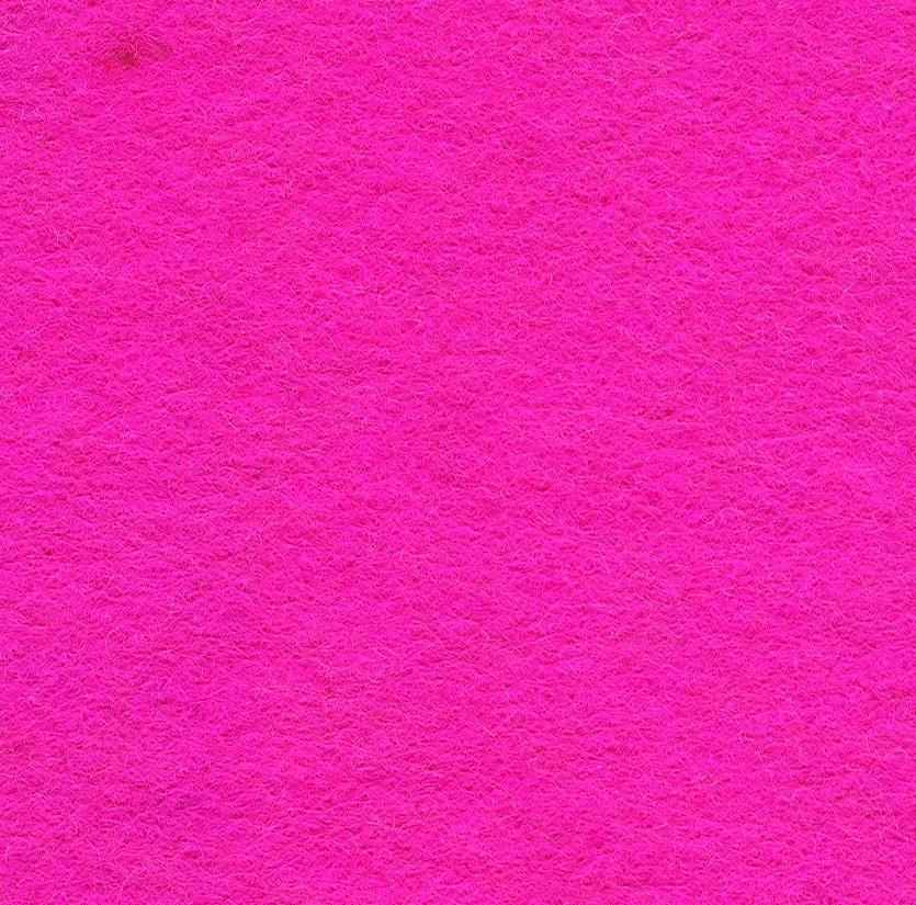 Felt Square Shocking Pink 30% Wool - 9in / 22cm