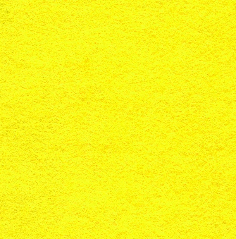 Felt Square Yellow 30% Wool - 9in / 22cm