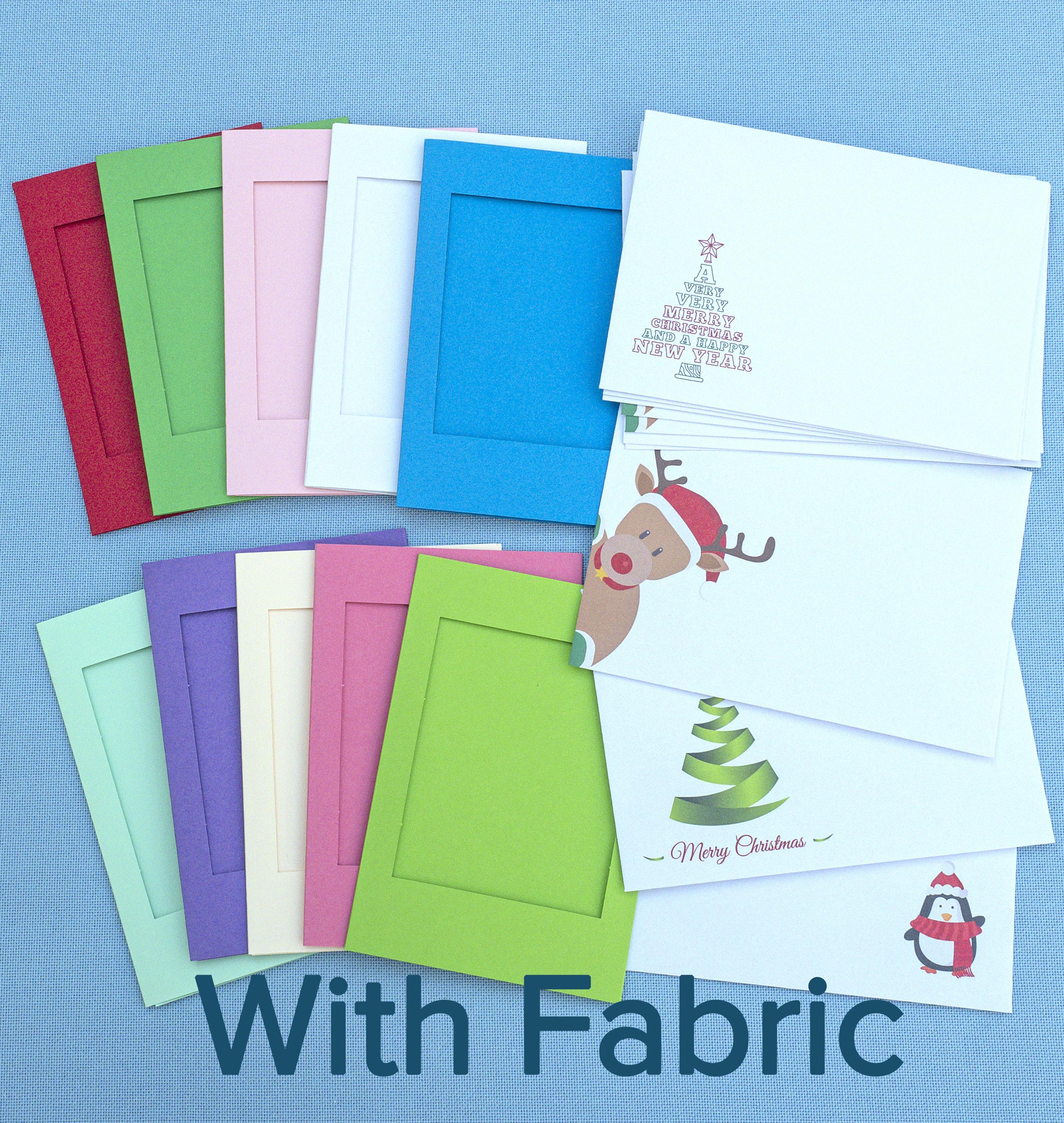 XST375 Festive 10 Card Pack + DMC fabric