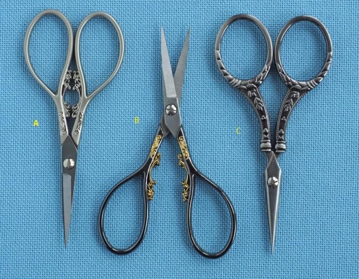 Filigree Scissors Set B - Black Gold