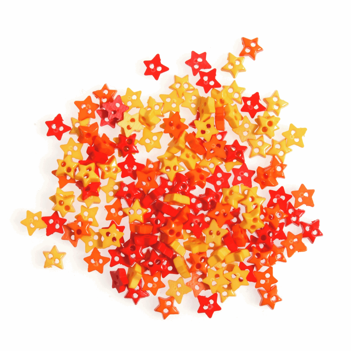 Craft Buttons - Orange and Yellow Stars (5g Pack)
