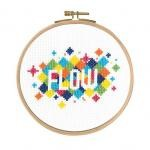 "BK1730 - Mindful Moments by Mr X Stitch ""Flow"" Cross Stitch Kit"