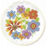 DMC Bright Flowerheads Cross Stitch Kit - BK1853