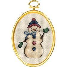 Janlynn 021-1794 -  Friendly Snowman Cross Stitch Kit