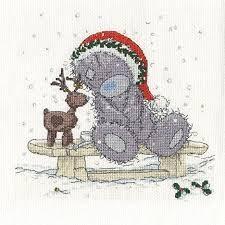 BL1097/72 - Me to You Tatty Teddy Friends in the Snow Cross Stitch Kit