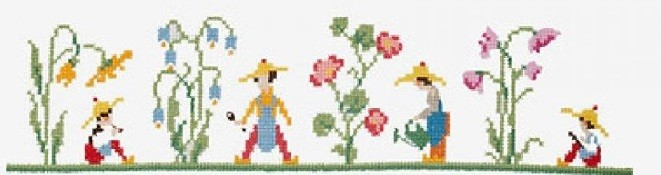 BK 1889 - DMC Bluebell Garden Cross Stitch Kit