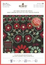 BK1784 - Red Geo Flowers Half Cross Stitch Kit