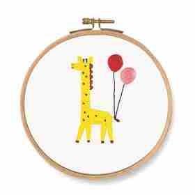 DMC Which One! Giraffe Printed Embroidery Kit - TB126