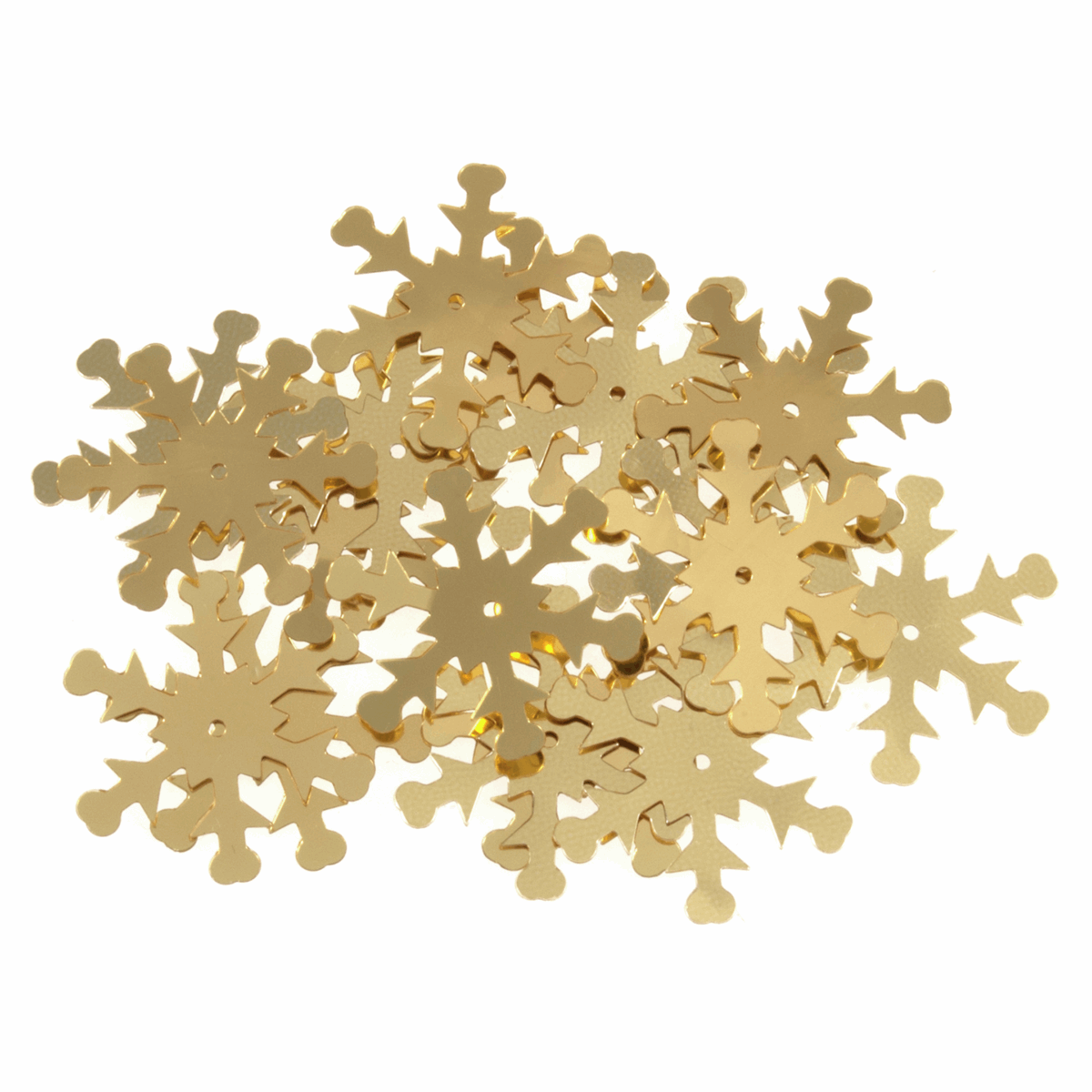Snowflake Sequins Gold