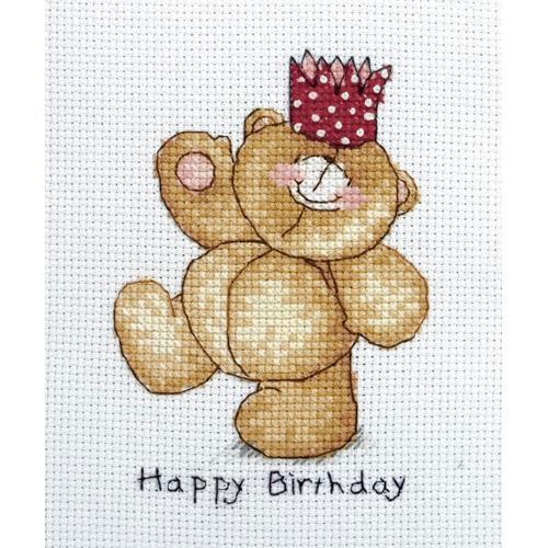 Anchor FRC220 Forever Friends Happy Birthday Cross Stitch Kit