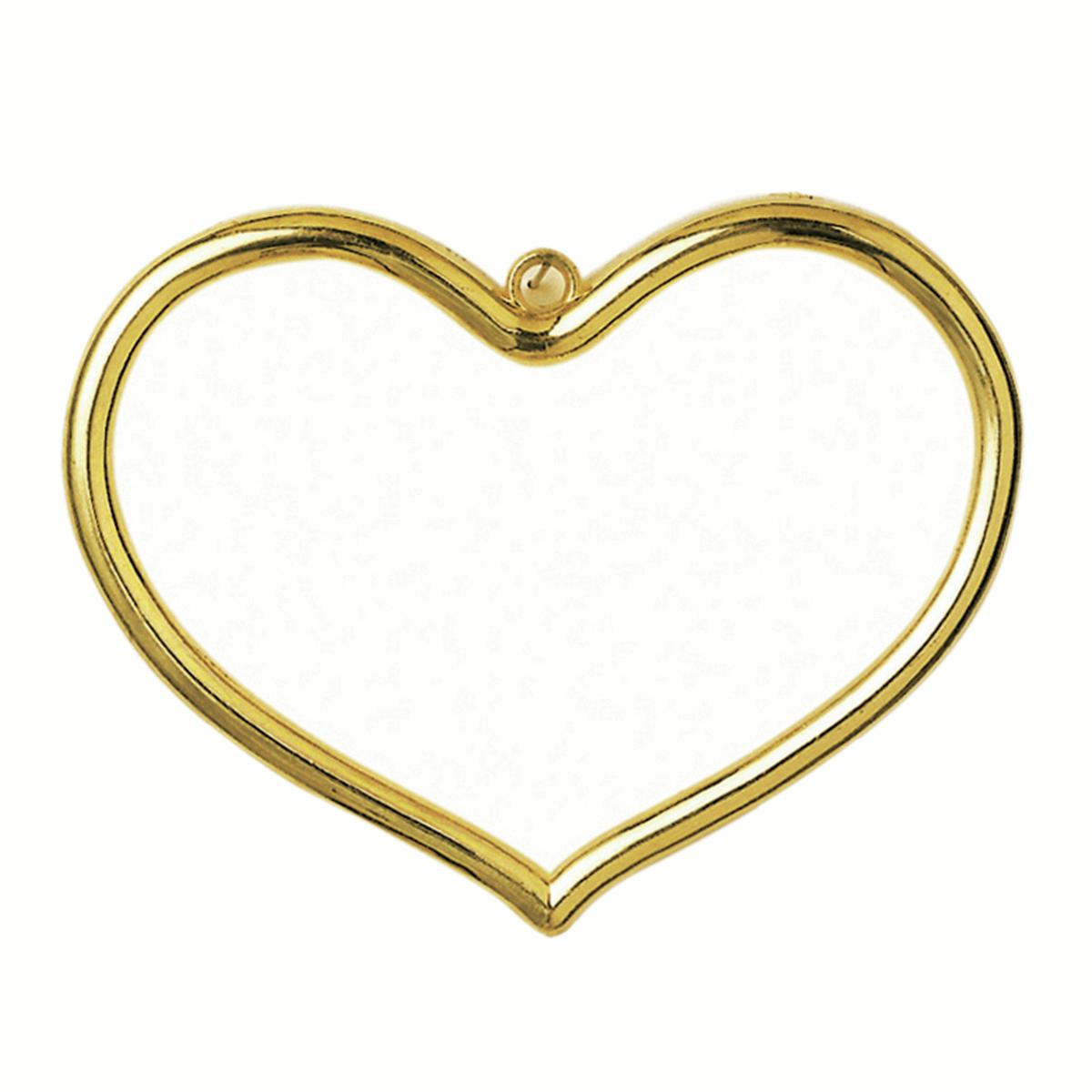 Plastic Heart Shaped Frame - Gold