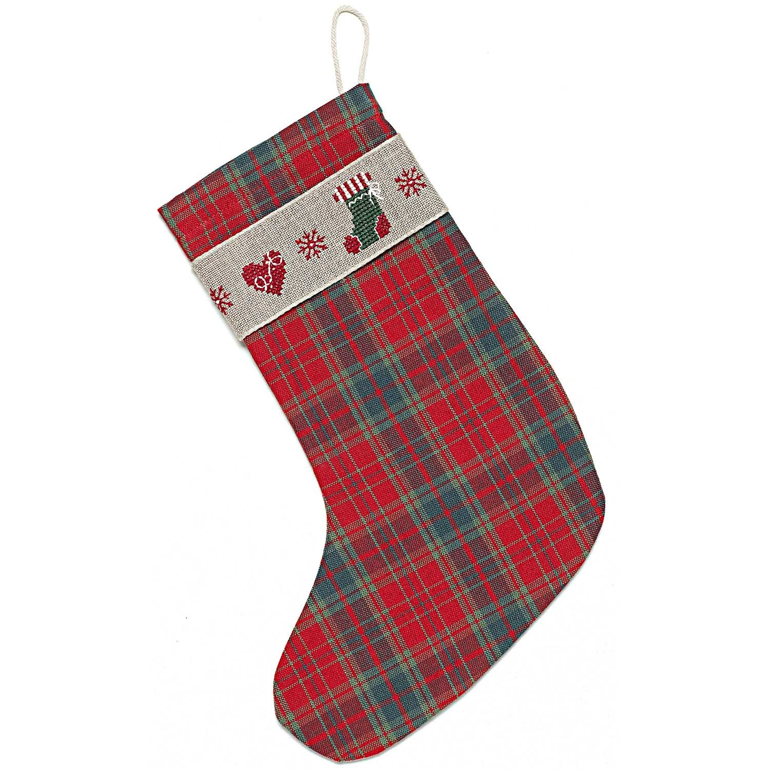 Rico Christmas Heart Stocking Cross Stitch Kit