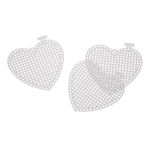Plastic Canvas 3 Inch Heart Shape - 5 pack
