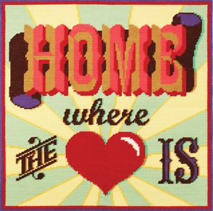 C117K - Home Where The Heart Is Printed Tapestry Kit