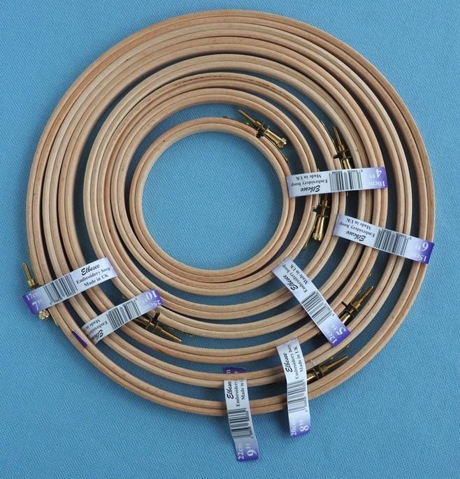 Elbessee Wooden Embroidery Hoop - 7in