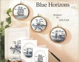 Framecraft Blue Horizons by Julie Cook Cross Stitch Chart Leaflet