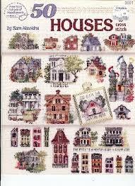 American School of Needlework - 50 Houses Cross Stitch Chart Booklet