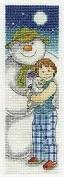BL1146/64 - The Snowman And the Snow Dog In the Moonlight Bookmark Cross Stitch Kit